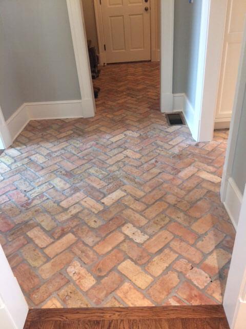 Reclaimed Brick Flooring Thin Brick Floors Brick Floor Tile